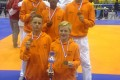 Op de foto van links naar rechts, Thom Rozier, Salomon Oostra en Bram v/d Elst. Vooraan Djemen Hoogerman en Mik Flik.